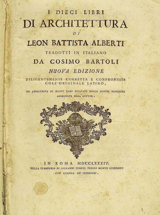 Leon Battista Alberti - De re aedificatoria (Dziesięć ksiąg o budownictwie) kliknij, aby czytać on-line
